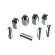 Chrome Stud & Nut Kit (Set of 4) - 1 set per wheel