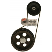 Serpentine pulley kit - Black