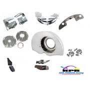 Complete Tinware Kit - without heaters - chrome