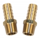 """Oil line brass fittings - 3/8"""" NPT to 1/2"""" hose"""