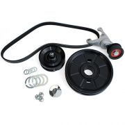 CB Serpentine Belt System with O.E. Style Pulley - Anodized Black