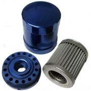 Billet Oil Filter - Blue