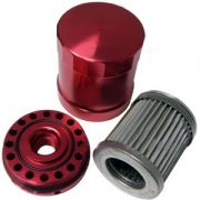 Billet Oil Filter - Red