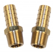 "Oil line brass fittings - 1/4"" NPT to 1/2"" hose"