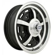"Sprintstar (5 x 205) - 15"" x 5"" - Gloss black with Polished lip"