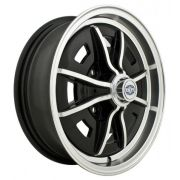"Sprintstar (4 x 130) - 15"" x 5"" - Gloss black with Polished lip"