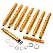 "SCAT Adjustable Gold Anodized push rod tubes - triple ""O"" ring"