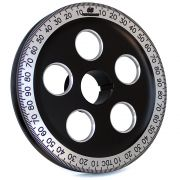 "CB 7"" Billet Santana Style Crankshaft Pulley (Black & Silver)"