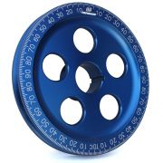 "CB 7"" Billet Santana Style Crankshaft Pulley (Blue)"