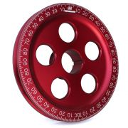 "CB 7"" Billet Santana Style Crankshaft Pulley (Red)"