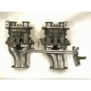 Dellorto 40mm Carbys, Manifold and linkage kit