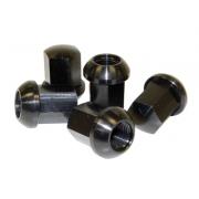 Porsche Style Aluminium Lug Nuts - Black Anodized , Polished or Chromed (Set of 5)