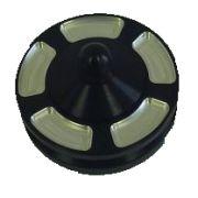 Jaycee Billet alternator pulley - black