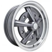 "Raider - 15"" x 5"" - in anthracite with polished lip - a beautiful looking wheel"
