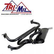 TriMil Single Quiet-Pak (Heat Risers) Black (Chrome Tip)