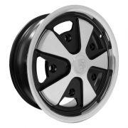 """911 Fuchs Silver/Black (5 x 205) - 15"""" x 4.5"""""""