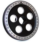 "CB 7"" Billet Santana Style Crankshaft Pulley (Black & Silver)"