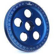 "CB 7"" Billet Santana Style Crankshaft Pulley (Blue)"