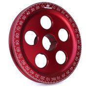 "CB 7"" Billet Santana Style Crankshaft Pulley (Red)"