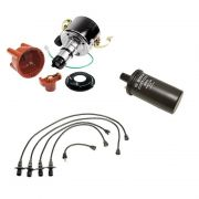 Mechanical Distributor (009) Kit - cap, rotor, points, condensor, leads, coil