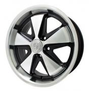 """911 Fuchs Silver/Black (5 x 112 ) - 17"""" x 7"""""""